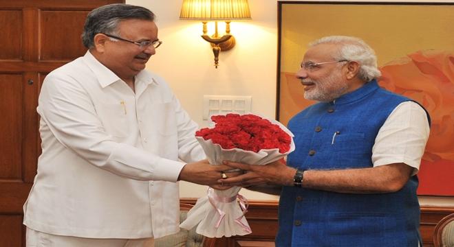 Dr. Raman Singh and Narendra Modi